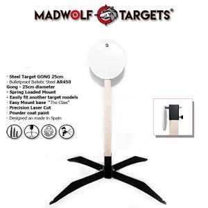 Cible métallique en acier résistant pour tir. Pack Steel Target «Gong 25cm». Blanc de tir de métal