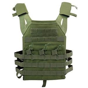 JPC is 1000D EVA Dalle de Combat Gilet Gilet Tactique Veste Militaire Fans Extérieure Multifonctionnel Tactique Léger, Vert, Brand Custom