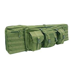 LUVODI Housse de Transport pour 2 Fusils à Air/Fusils de Chasse Rembourée Sac Tactical Double Rifle 106 cm Mallettes pour Arme Longue Protection de Réplique Airsoft – Vert
