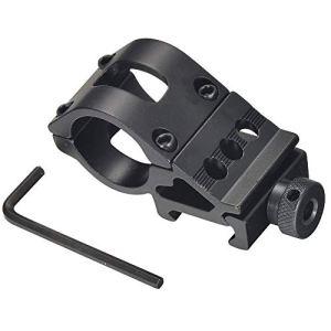 Mudder Anneau 25mm torche Chasse Portée adaptateur 20mm Weaver Rail Mount T2008