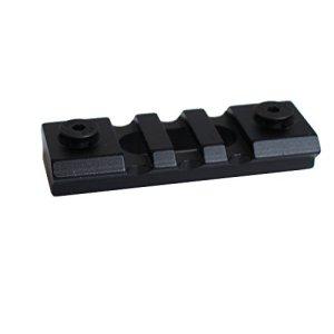 Noga Jeu de Rails de vis en Aluminium Picatinny à 3 Fentes Noires Les Accessoires de Montage de carabines à Main Lockmod de Keymod