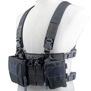 Will Outdoor Tactique Gilet à la Poitrine Rig Rig Assault 500D Molle Multicam Gilet Tactique à Poches Multiples