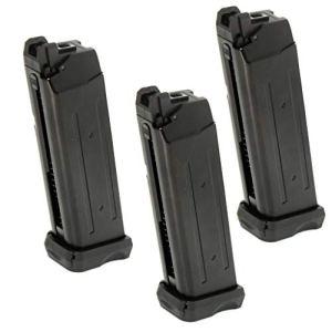 Airsoft Parts APS 3pcs 23rd Mag Co2 Magazine pour D-Mod Pistolet Airsoft Noir