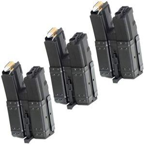 Airsoft Parts CYMA 3pcs 250rd Mag Short Hi-Cap Double Magazine pour MP5 Série AEG Noir