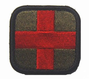 Croix tactique Medical Broderie Velcro Microdress (Armygreen)
