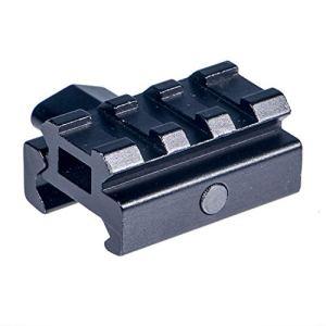 ToopMount Adaptateur de Montage en Aluminium 20 mm Weaver/Picatinny (Extension) Base de Montage avec écrou QD