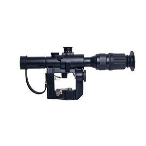 ToopMount Lunette de visée Tactique Airsoft 4x26mm Optique éclairée Rouge avec Anneaux de Montage Libres 20mm&11mm pour la Chasse en Plein air