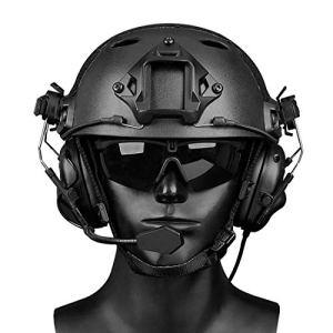 GODNECE Écouteur Tactique, WST Gen.5 Earmuffs Casque Écouteur Casque Tactique Militaire Airsoft avec Microphone