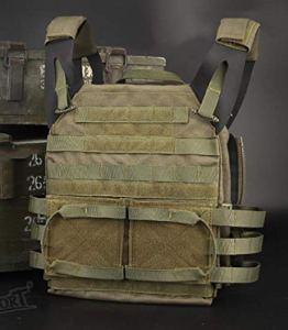 Mlite Gilet tactique d'expansion de protection JPC, gilet de combat amphibie pour paintball, vert