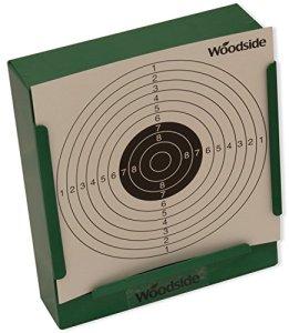 Woodside – Porte-cible avec récupérateur de balles + 100 cibles de 14 cm – pour fusil de chasse/pistolet d'airsoft