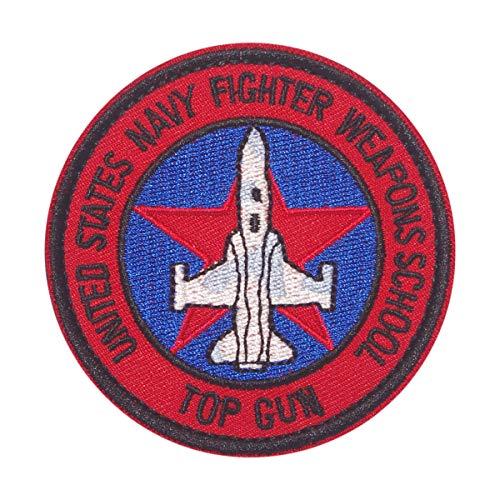 Cobra Tactical Solutions Military Patch en PVC UNITED STATS NAVY FIGHTER WEAPONS SCHOOL TOP GUN avec Fermeture Velcro pour Airsoft/Paintball pour vêtements Tactiques et Sac à Dos