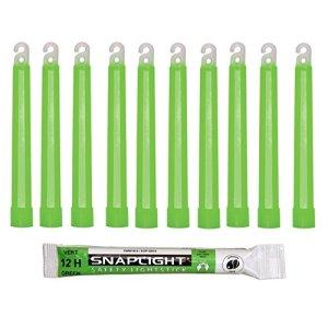 Cyalume Technologies – Carton de 500 Bâtons Lumineux Snaplight- 15 cm- 6»- Vert- 12 heures