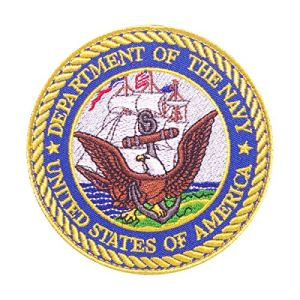 Cobra Tactical Solutions Military Patch DEPARTMENT OF THE NAVY – UNITED STATES OF AMERICA Motivational Military Patch avec Fermeture Velcro pour Airsoft/Paintball pour vêtements Tactiques et Sac à Dos