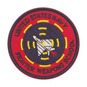 Cobra Tactical Solutions Military Patch UNITED STATS NAVY FIGHTER WEAPONS SCHOOL Motivational Military Patch avec Fermeture Velcro pour Airsoft/Paintball pour vêtements Tactiques et Sac à Dos