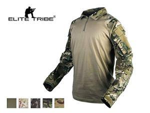 Elite Tribe Emerson Gen3 Combat Chemise Camo pour des Hommes Tactique Hauts Chasse BDU Chemise (Ranger Green, Medium)