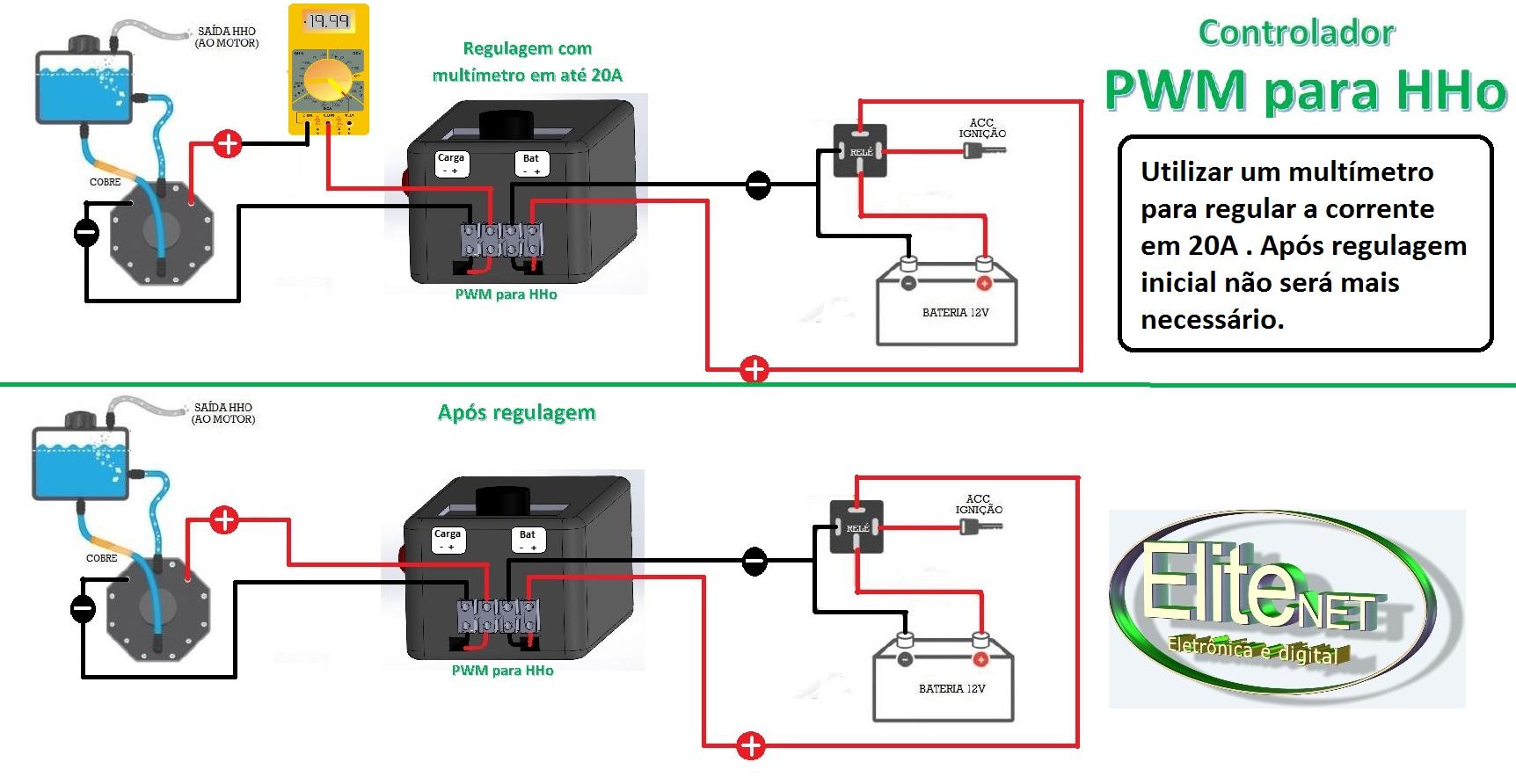 pwm wiring diagram for hho systems thermostat color circuito para kits célula de hidrogênio