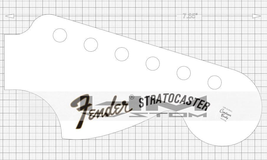 Fender Stratocaster Headstock Template Actual Size Bahuma