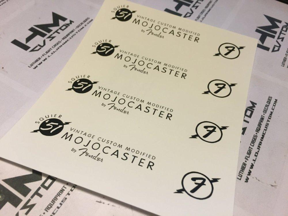 medium resolution of  fender squier 51 mojocaster custom headstock logo waterslide decal