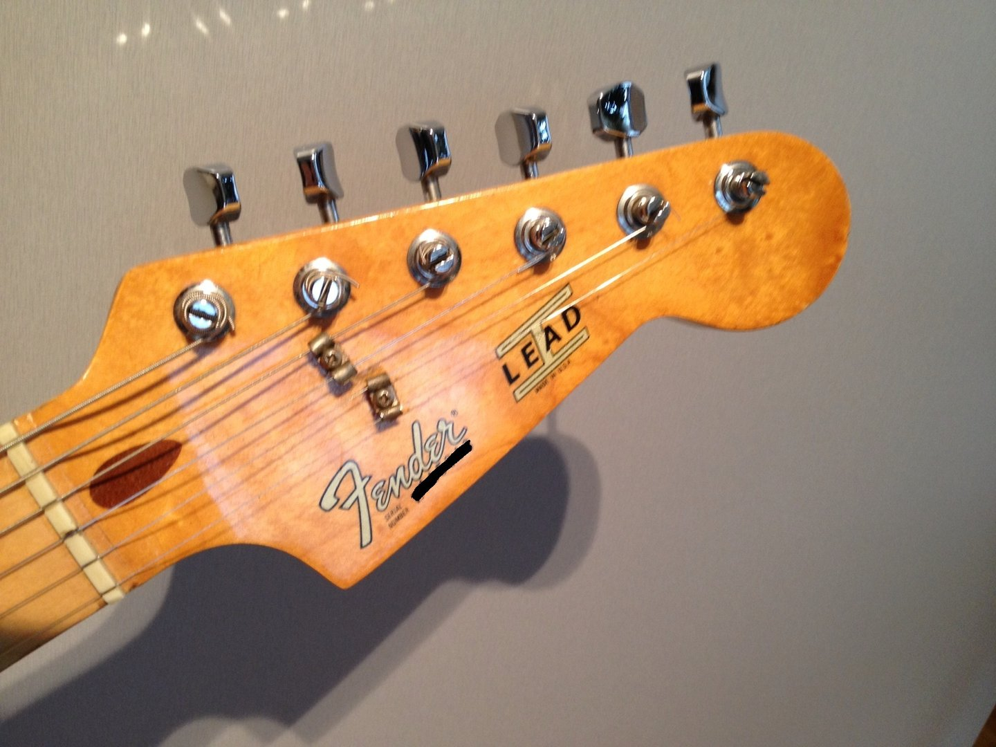 hight resolution of fender lead ii custom headstock logo