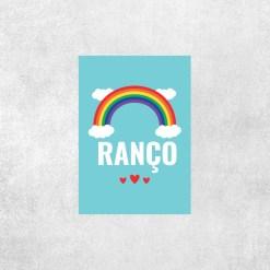 Placa Decorativa RANÇO - Arco-Íris - Loja Nerd