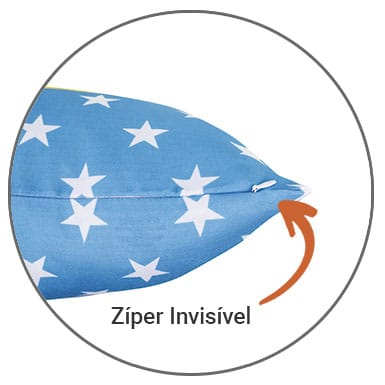 Almofada com Zíper Invisível Loja Nerd