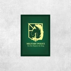 Placa Decorativa Attack on Titan - Polícia Militar - Loja Nerd