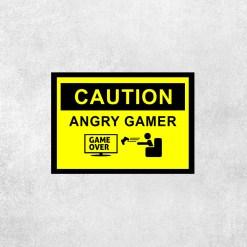 Placa Decorativa Cuidado Gamer Nervoso - Loja Nerd
