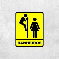 Placa Decorativa Banheiros - Loja Nerd