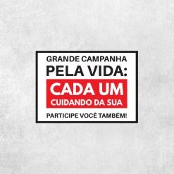Placa Decorativa Campanha Pela Vida - Loja Nerd
