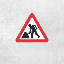 Placa Decorativa Homens Trabalhando - Loja Nerd