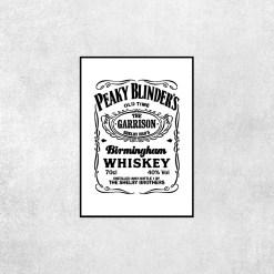 Placa Decorativa Peaky Blinders Whisky Branco - Loja Nerd