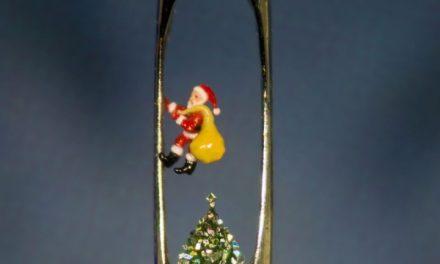 Papai Noel no microscópio? O menor natal do mundo está em Portugal
