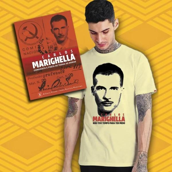 Camiseta Marighella + Livro
