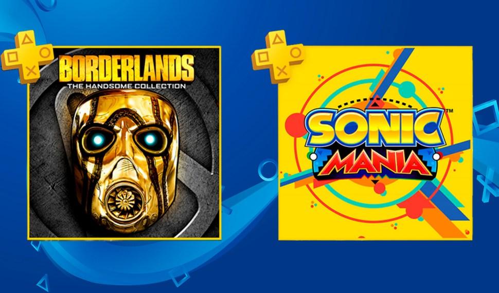 Borderlands: The Handsome collection y Sonic Mania estarán disponibles en junio en PlayStation Plus