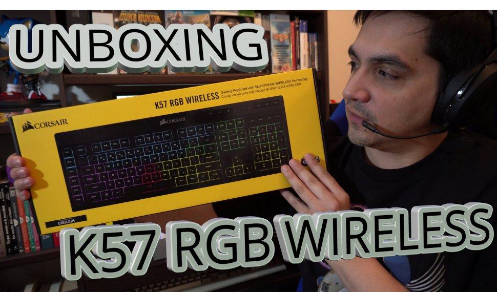 Unboxing – Corsair K57 RGB Wireless