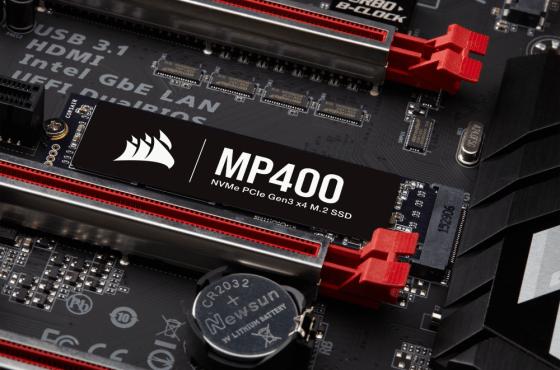 CORSAIR lanza el MP400, una nueva SSD M.2 NVMe con 3D QLC NAND de alta densidad