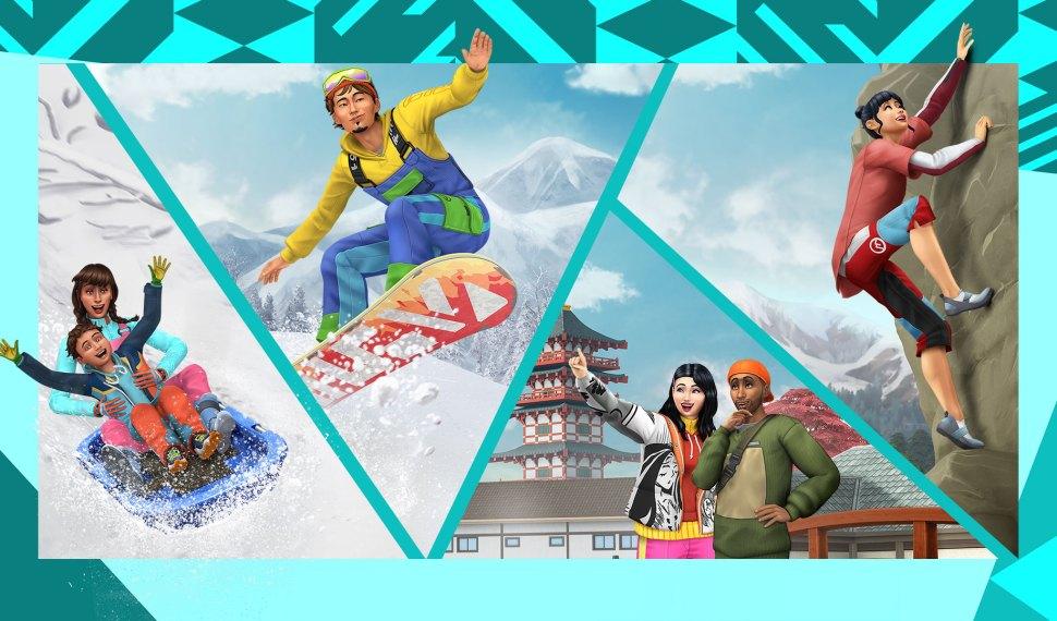 Viaja al Mt. Komorebi con Los Sims 4 Escapada en la Nieve ya disponible