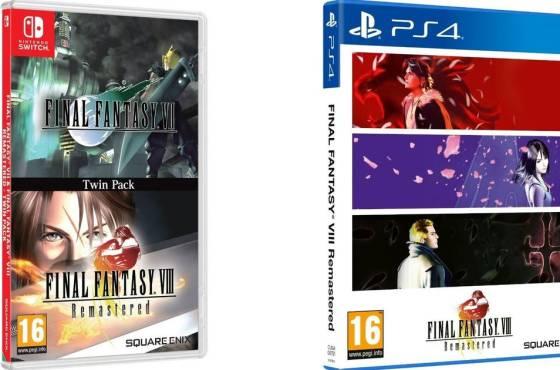 Final Fantasy VII y Final Fantasy VIII Remastered ya a la venta en un conjunto doble para Switch