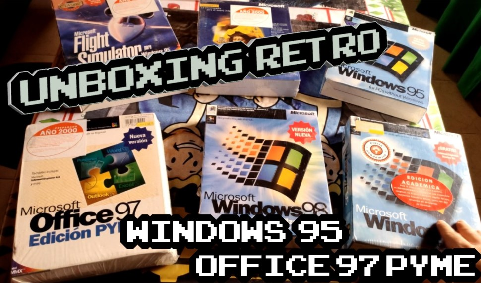 Retro Unboxing Windows 95 y Office 97 Pyme