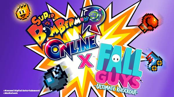 Crossover entre Super Bomberman R Online y Fall Guys: Ultimate Knockout