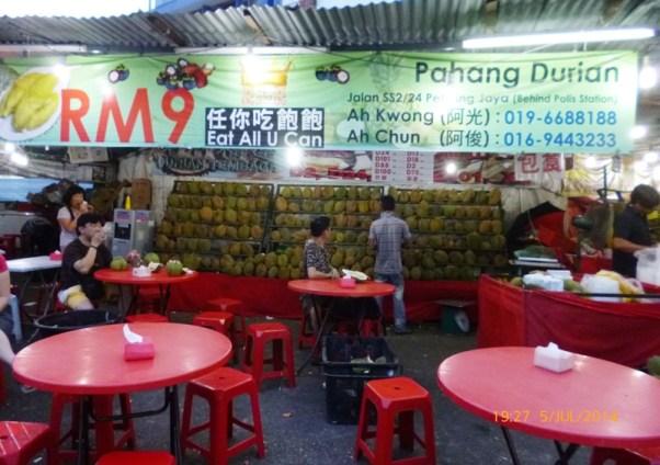 RM9 Durian buffet