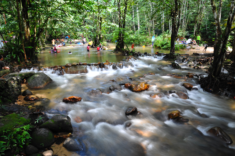 Kedondong River Is Considered An Easy Route For Trekking And Its Small Waterfall With Pretty Cascades