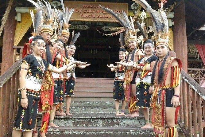 Murut Cultural Centre in Tenom. If youre lucky, you will be welcome by a traditional Murut dance.