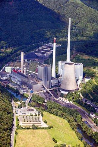 Das Kraftwerk in Werdohl-Elverlingsen. Foto: ENERVIE