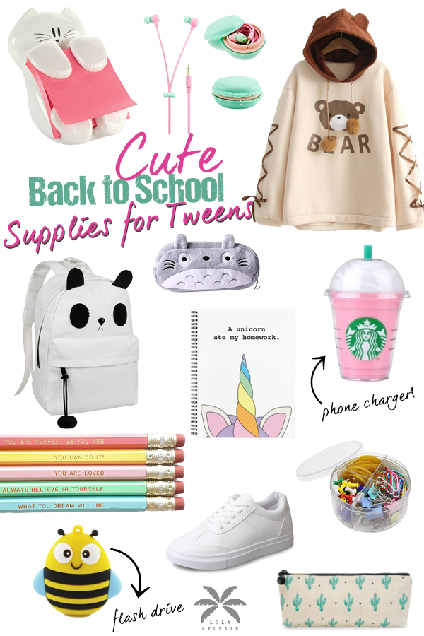 Cute Back To School Supplies For Middle School Tween Girls