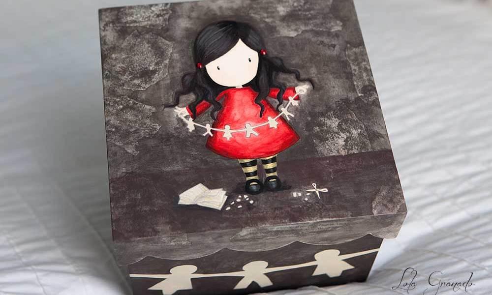 Caja muñeca Gorjuss con recortable, Lara