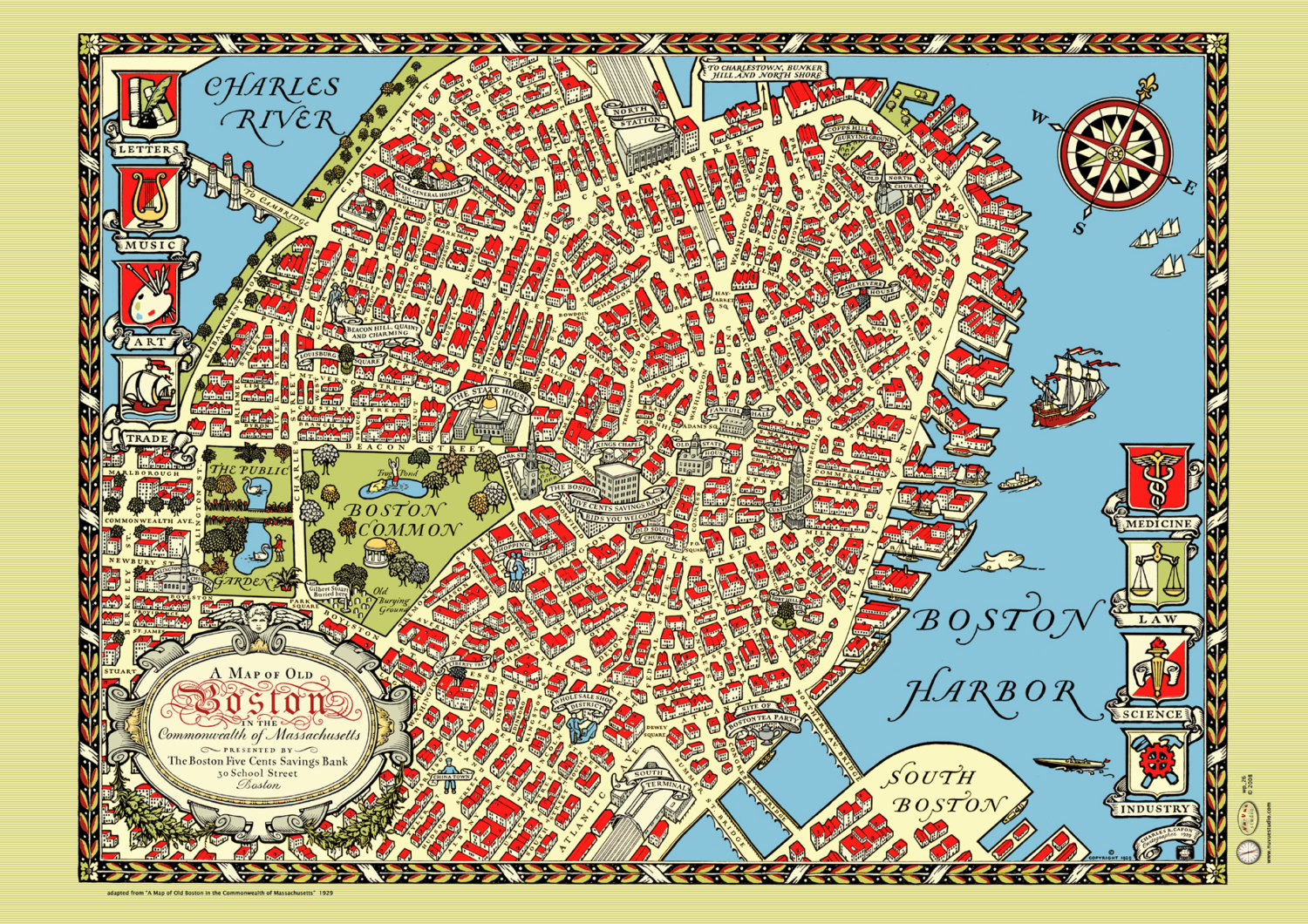 Boston Street Map 1920s OUR CTHULHU JOURNAL