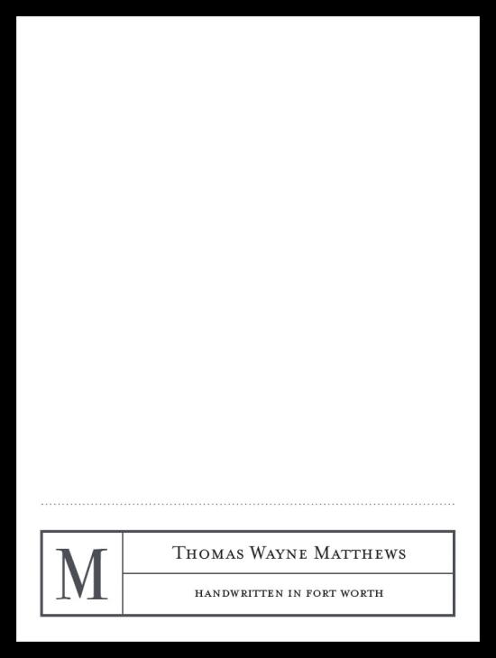 Mr. Footer Notecards - Grey