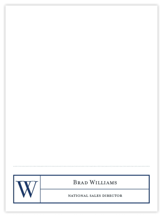 Mr. Footer Notecards - Navy