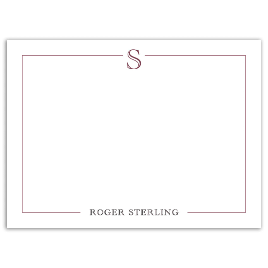 Mr. Simple Notecard - Maroon
